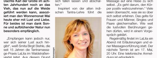 LaLita in der Lebenslust der Leipziger Volkszeitung im Mai 2014